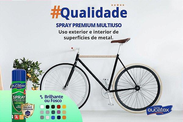 Tinta Spray Multiuso Cor Branco Fosco 400ml Eucatex