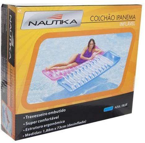 Colchão Inflável Para Piscina Ipanema Verão Azul