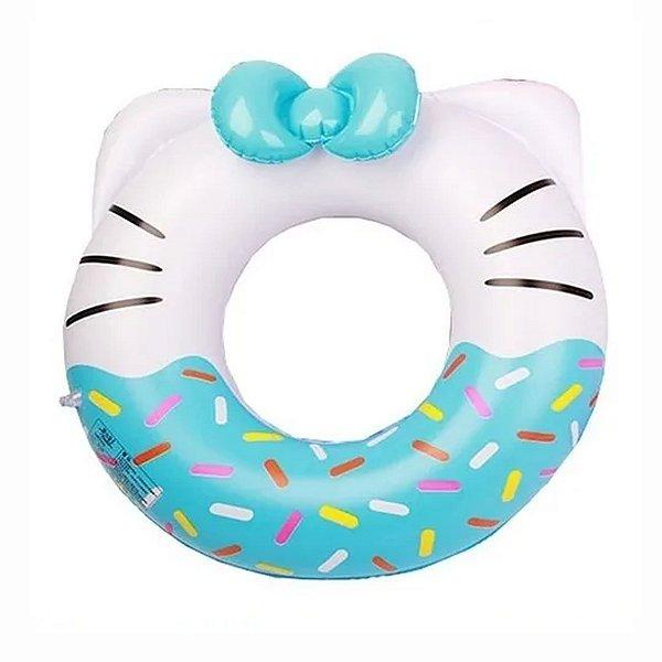 Boia Infantil Inflável Hello Kitty Azul - 70cm