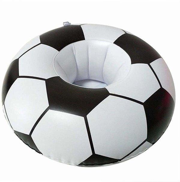 Porta Copo Inflável Bola de Futebol