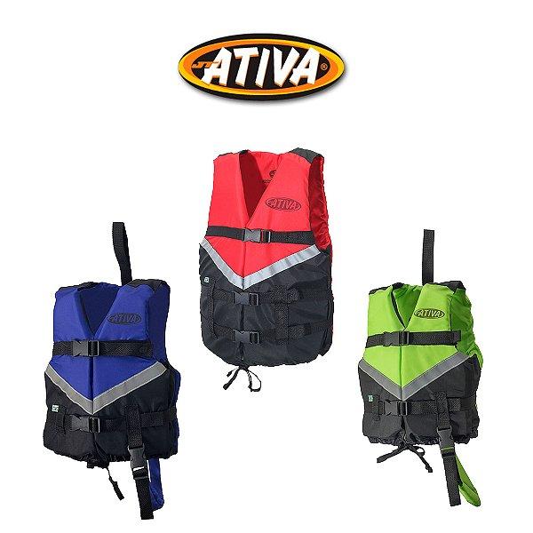 Colete Salva Vidas Canoa 2.0 - 80kg A 100kg - Ativa