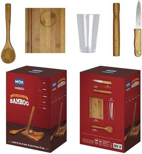 Kit Caipirinha Bamboo Mor 5 Peças
