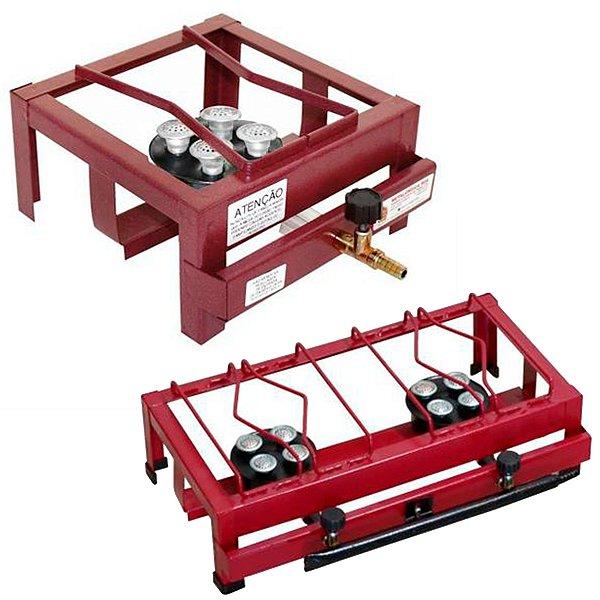 Fogão Industrial - Roa - kit 4 unid. uma boca / 3 unid. duas bocas