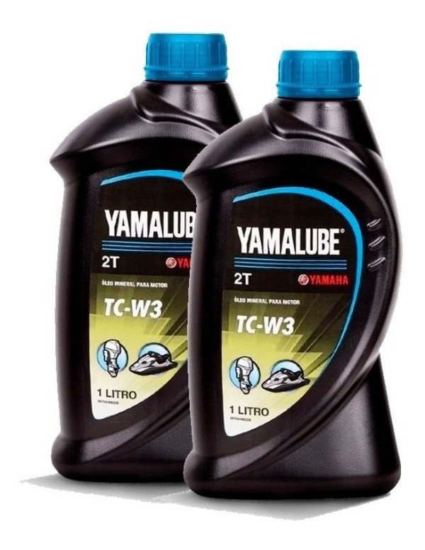 Óleo Yamalube Para Motor De Popa Náutico Tc-w3 2t - Kit C/ 2