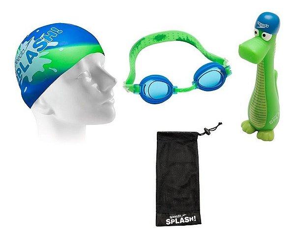 Óculos + Touca + Bastão + Bolsa - Kit 4 Em 1 - Speedo Splash