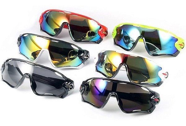 Óculos De Sol Ciclismo Troca Lentes Proteção Uv - 3 Lentes