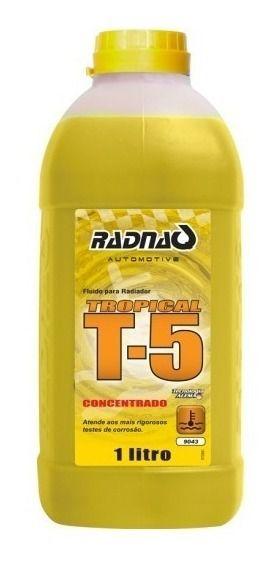 Aditivo Fluído Radiador Amarelo Concentrad T5 Radnaq 1 Litro