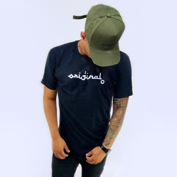 Camiseta Longline Escrita Original Preta - CO Oficial