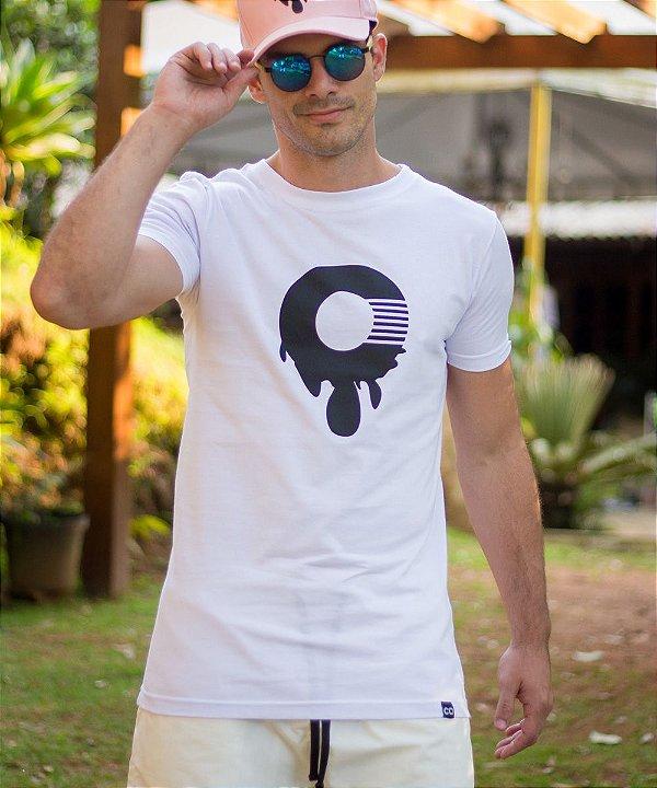 Camiseta Longline Desenho O Branca - CO Oficial