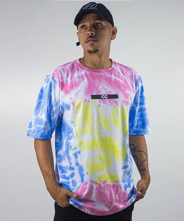 Camiseta Tie Dye Over Colorida - CO Oficial