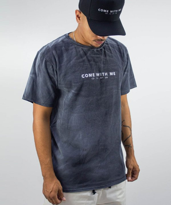 Camiseta OVER Come With Me Grafite - CO Oficial