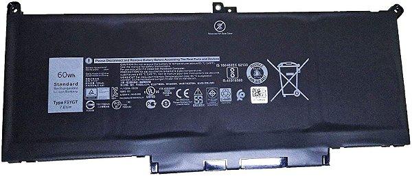 Bateria Dell Latitude F3ygt 7.6v 60wh - 7380 7390 7480 7490