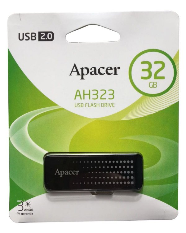 Pen Drive Apacer 32gb USB 2.0 Preto