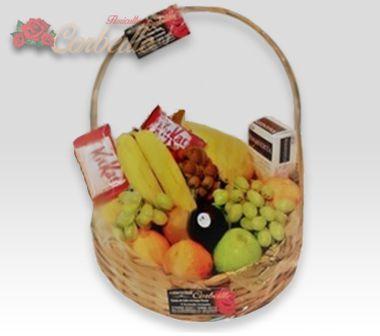 Cesta de Frutas e Chocolates