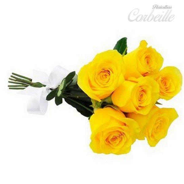 Buquê 6 rosas Amarelas