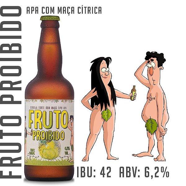 Cerveja Fruto Proibido - APA com maçã cítrica - Garrafa 500 ML