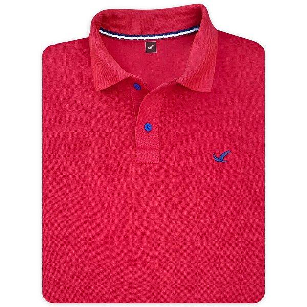 Camisa Polo Masculina Lisa Original Social Básica Esportiva - Vermelha e Outras Cores