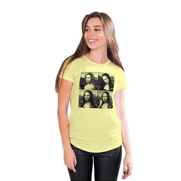 T-Shirt Mona Lisa Debochada - Feminina