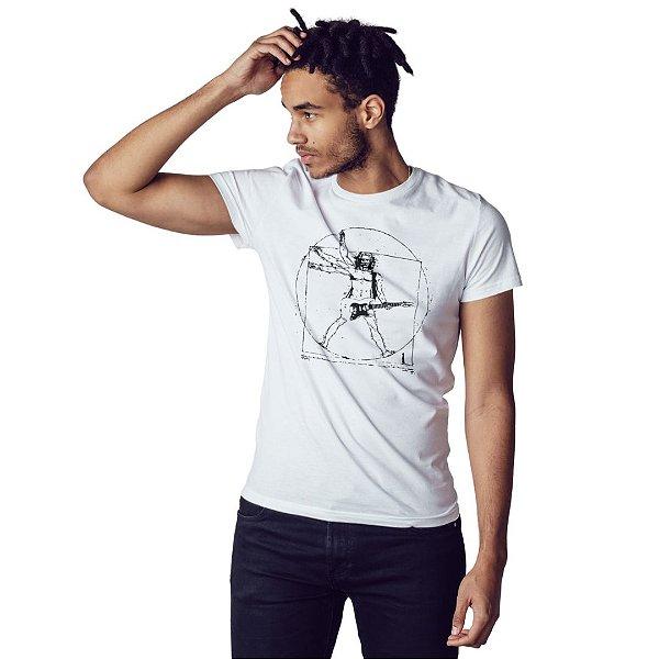 Camiseta Rockeiro Vitruviano - Masculina