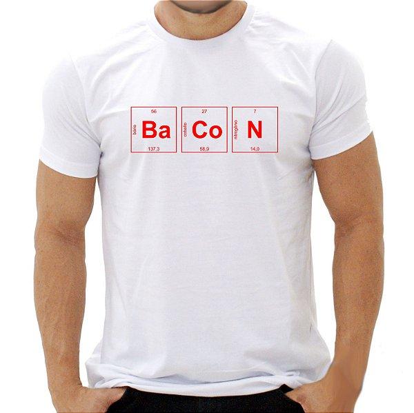 Camiseta Bacon Periódico - Masculina - PT+BR
