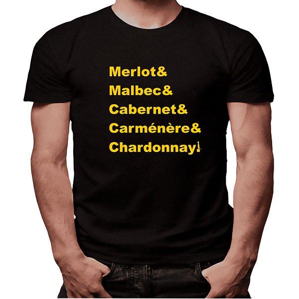 Camiseta Mestre dos Vinhos - Masculina