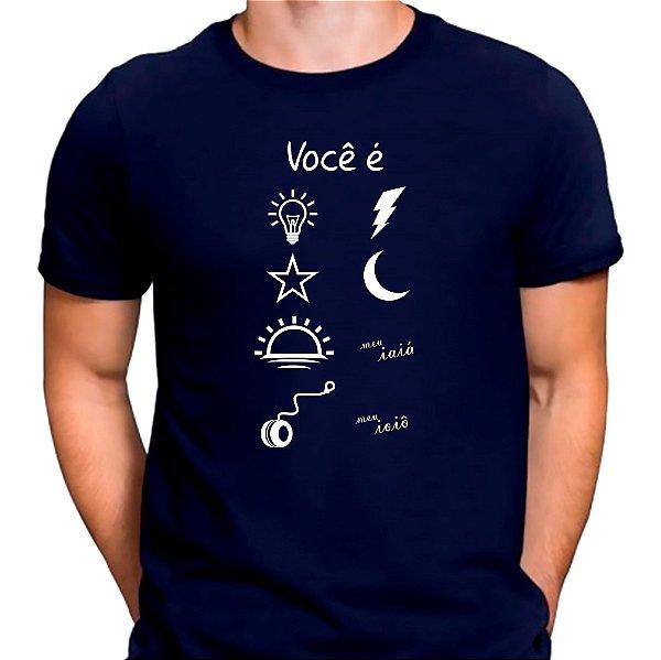 Camiseta Você é Luz Azul.M - Masculina