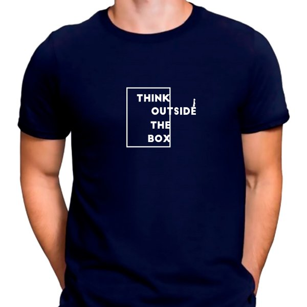 Camiseta Think Outside The Box Azul.M - Masculina