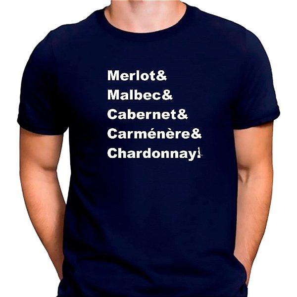 Camiseta Mestre dos Vinhos Azul.M - Masculina
