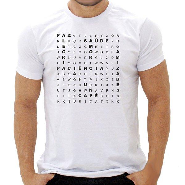 Camiseta Caça Palavras Boas - Masculina - PT+BR