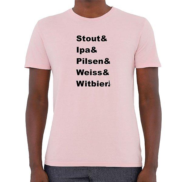 Camiseta Mestre Cervejeiro - Masculina - AZM+AM+ROSA