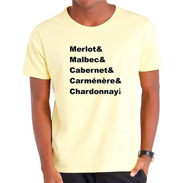 Camiseta Mestre dos Vinhos - Masculina - AZM+AM+ROSA