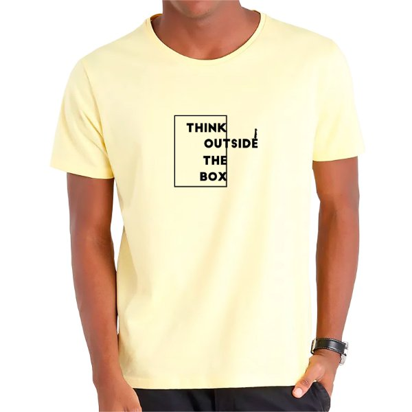 Camiseta Think Outside The Box - Masculina - AZM+AM+ROSA