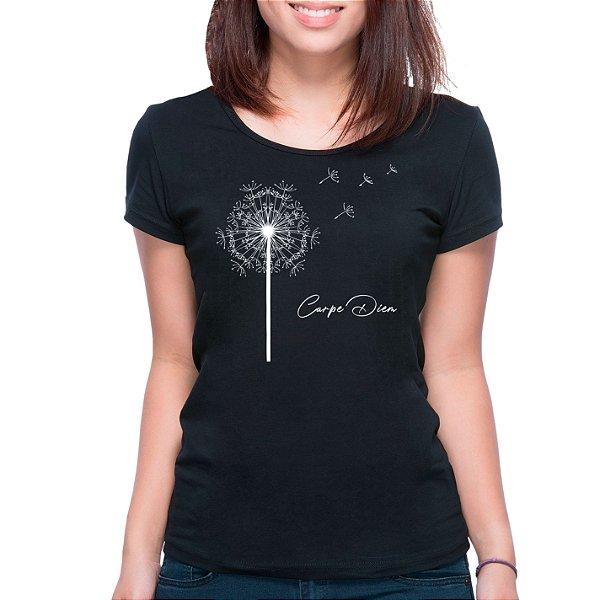 T-Shirt Dente-de-Leão Carpe Diem - Feminina - PT+BR