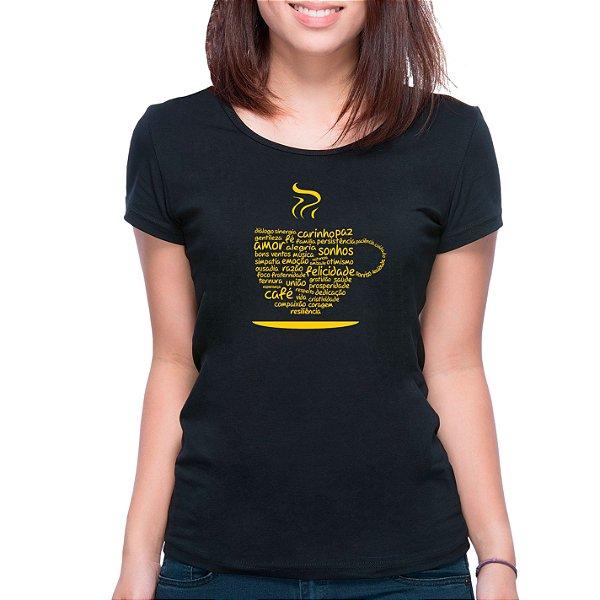 T-Shirt Xícara da Positividade - Feminina - PT+BR