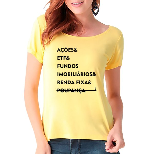 T-Shirt Investimentos - Feminina - AM+ROSA