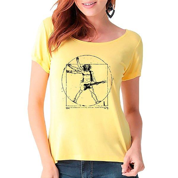 T-Shirt Rockeiro Vitruviano - Feminina - AM+ROSA