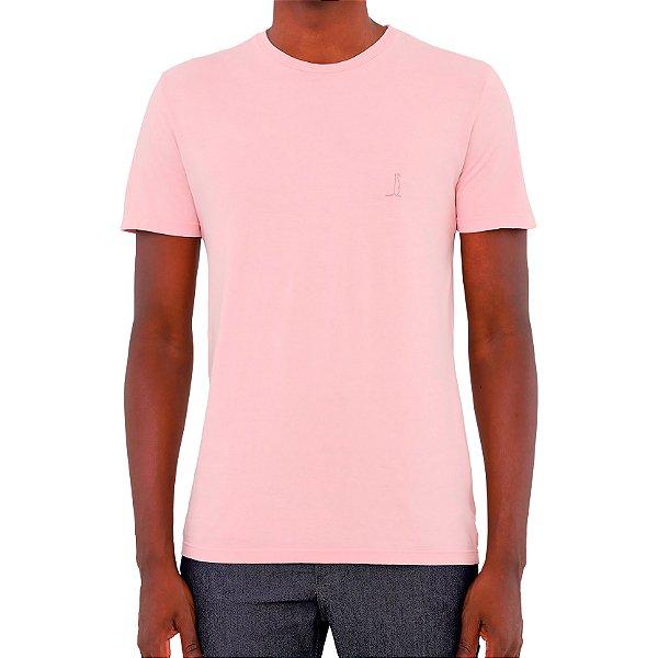 Camiseta Nova Básica Rosa - Masculina