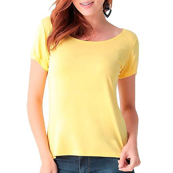 T-Shirt Minimalista Amarela - Feminina