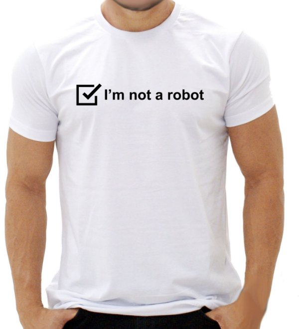 Camiseta I'm not a robot - Masculina - PT+BR