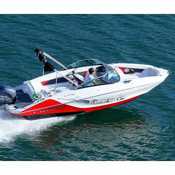 Lancha Ventura 210 com motor Mercury 150 HP 4T EFI CT NOVA Pronta pra Navegar
