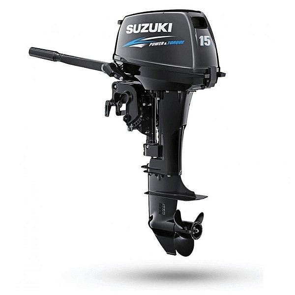 Motor de popa Suzuki 15HP DT15A 2T Apenas 33Kg  - Preço Produtor Rural - Pronta Entrega e Frete Grátis