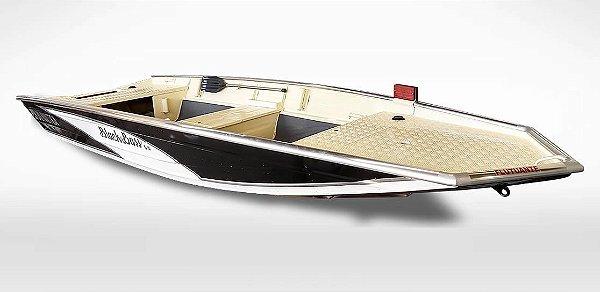 Barco Uai Black Bass 5.0 com corrimão flutuante, até motor 50 Hp (pilotagem na popa)
