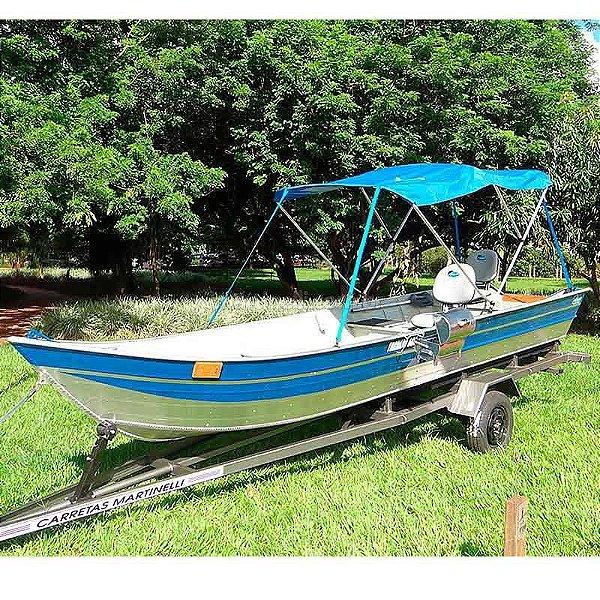 Barco Martinelli Tornado 600 BA + Carreta Rodoviária + Capota + 2 Cadeiras + Brinde churrasqueira