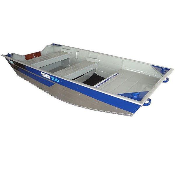 Barco de alumínio Martinelli Tornado Chata 300 borda alta