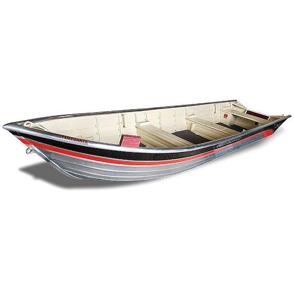 Barco Uai Náutica GOLD BASS 6.0 LT com corrimão Flutuante p/ motores até 30HP.