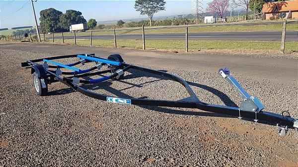 Carreta Rodoviária Odne para lancha Fibra/Alumínio até 19 pés 1 eixo sem freio