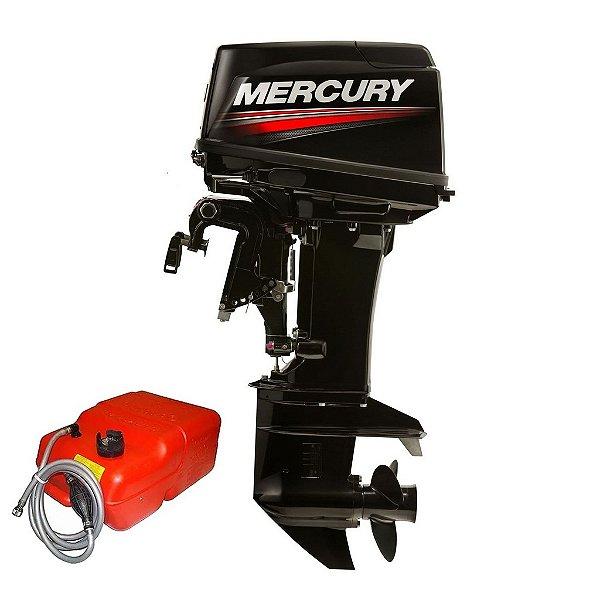 Motor de popa Mercury  50 HP ELPTO 2T - Comando e Power Trim rab. 20 pol. - Preço P. Rural e PJ