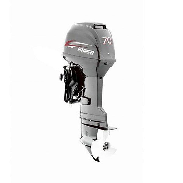 Motor de popa Hidea 70 HP 2T - Comando à distância - Power Trim - Partida Elétrica - Rab. 20 pol.