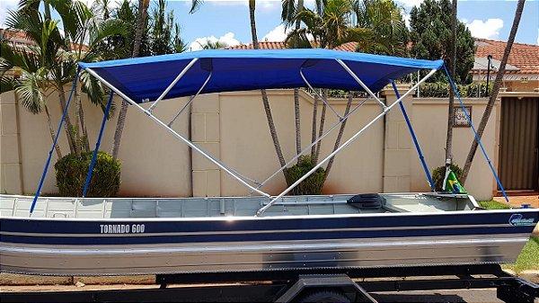 Barco de alumínio Martinelli Tornado 600 BA + Capota com 4 arcos e 3 metros