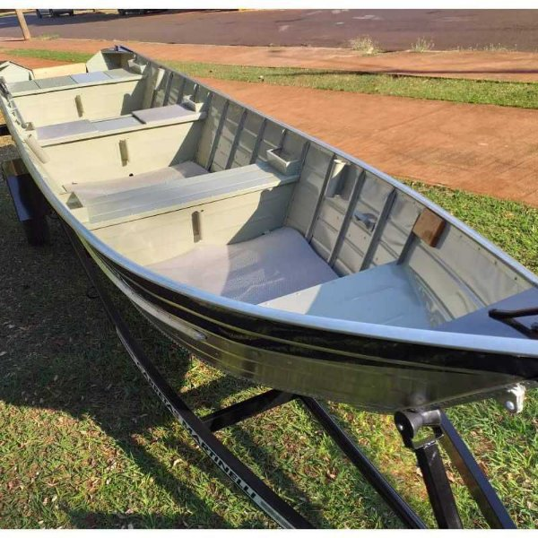 Novo Barco de alumínio Martinelli Tornado 600 BLACK + Carreta Rodoviária Viga U